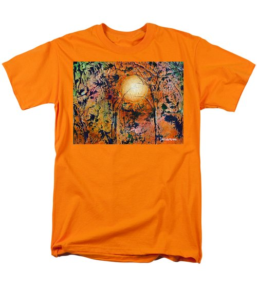 Men's T-Shirt  (Regular Fit) featuring the painting Copper Moon by Dan Whittemore