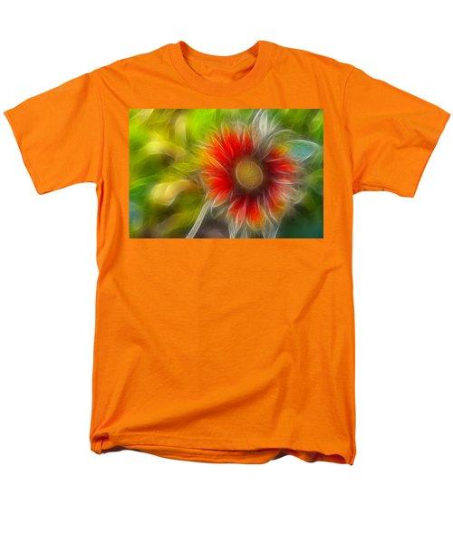 Men's T-Shirt  (Regular Fit) featuring the photograph Dalia Pseudo Fractal by Lynne Jenkins