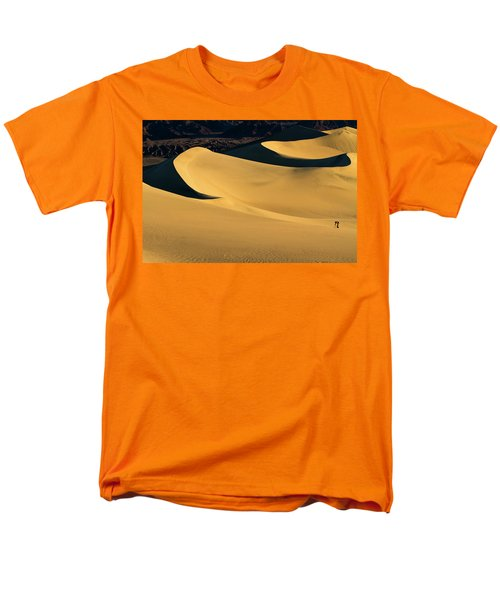 Death Valley And Photographer In Morning Sun Men's T-Shirt  (Regular Fit) by William Lee