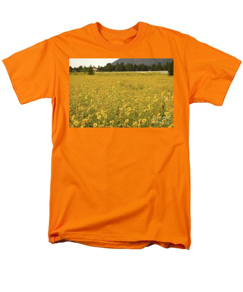Field Of Yellow Daisy's Men's T-Shirt  (Regular Fit) by Donna Greene