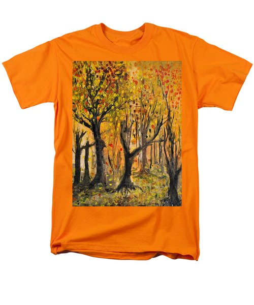 Men's T-Shirt  (Regular Fit) featuring the painting Foliage by Evelina Popilian