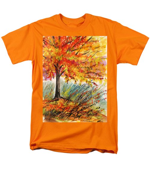 Men's T-Shirt  (Regular Fit) featuring the painting Gold On A Blue Day by John Williams