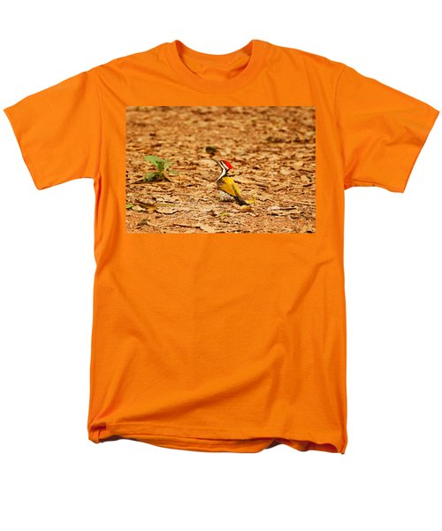 Men's T-Shirt  (Regular Fit) featuring the photograph Golden Backed Woodpecker by Fotosas Photography