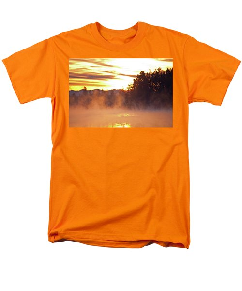 Men's T-Shirt  (Regular Fit) featuring the photograph Misty Sunrise by Tikvah's Hope