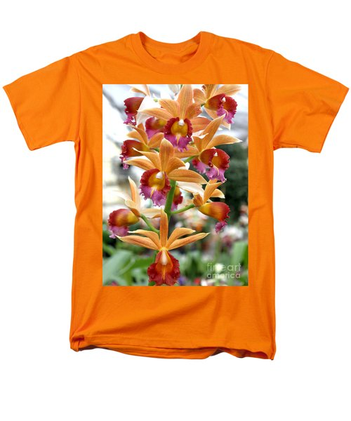Men's T-Shirt  (Regular Fit) featuring the photograph Orange Orchids by Debbie Hart
