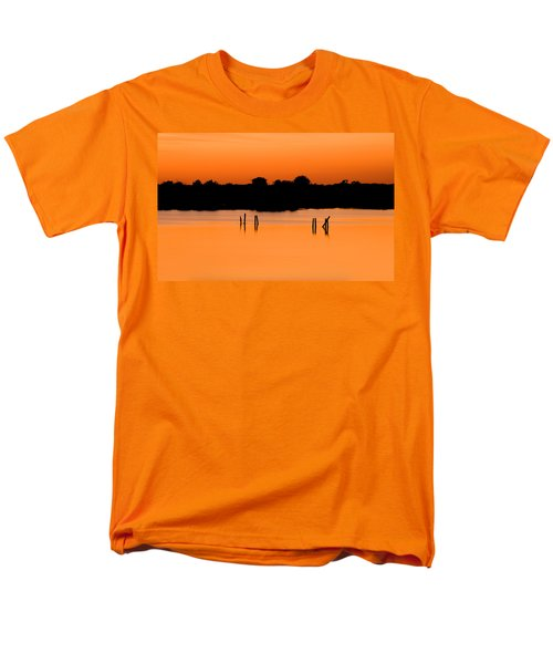 Orange Sunset Florida Men's T-Shirt  (Regular Fit) by Rich Franco