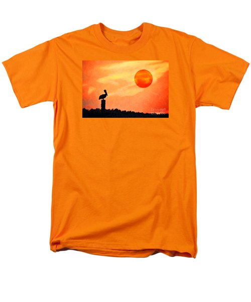 Men's T-Shirt  (Regular Fit) featuring the photograph Pelican During Hot Day by Dan Friend