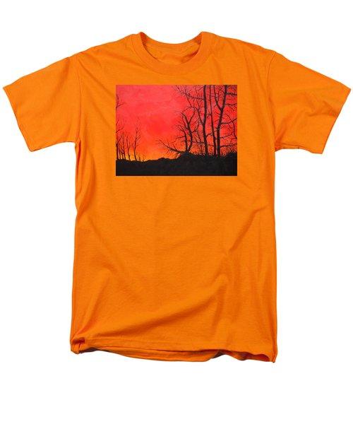 Red Sky  Men's T-Shirt  (Regular Fit) by Dan Whittemore