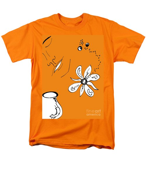 Serenity In Orange Men's T-Shirt  (Regular Fit) by Mary Mikawoz