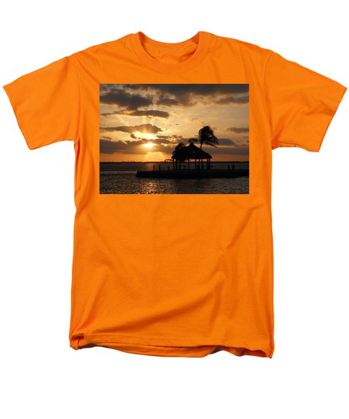 Men's T-Shirt  (Regular Fit) featuring the photograph Sunrise Over Bay by Clara Sue Beym