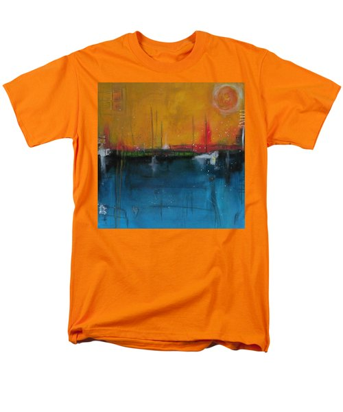 Men's T-Shirt  (Regular Fit) featuring the painting Sunset At The Lake  # 1 by Nicole Nadeau