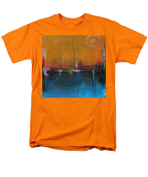 Men's T-Shirt  (Regular Fit) featuring the painting Sunset At The Lake # 2 by Nicole Nadeau