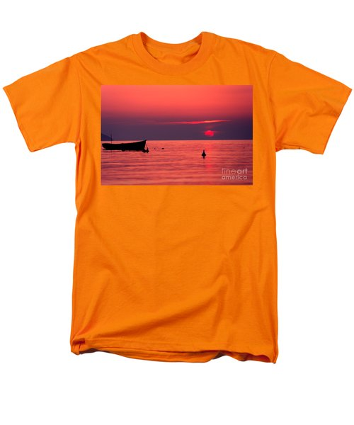 Men's T-Shirt  (Regular Fit) featuring the photograph Sunset In Elba Island by Luciano Mortula
