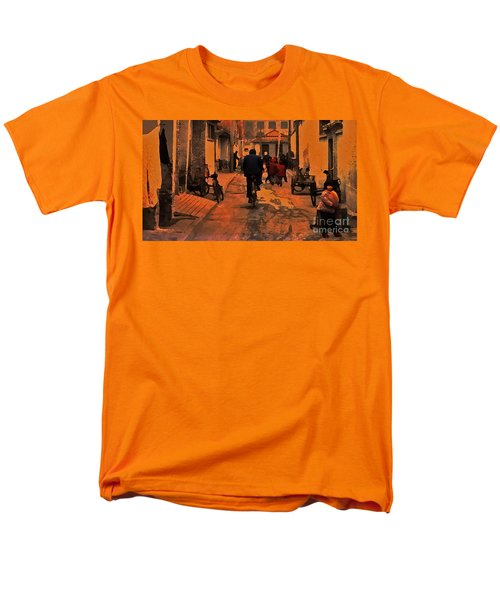 Men's T-Shirt  (Regular Fit) featuring the photograph The Neighborhood by Lydia Holly