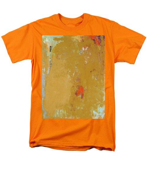 Untitled Abstract - Ochre Cinnabar Men's T-Shirt  (Regular Fit) by Kathleen Grace