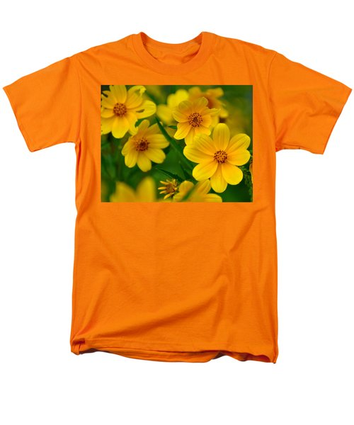 Men's T-Shirt  (Regular Fit) featuring the photograph Yellow Flowers by Marty Koch
