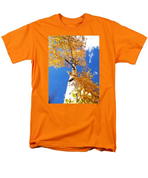 Men's T-Shirt  (Regular Fit) featuring the photograph  The Aspen Crown Dixie National Forest Utah by Deborah Moen