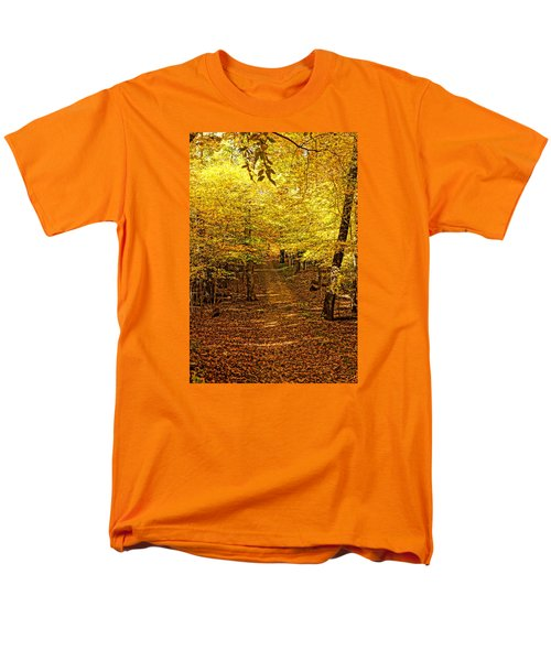 Men's T-Shirt  (Regular Fit) featuring the photograph A Walk In The Woods by Steven Clipperton
