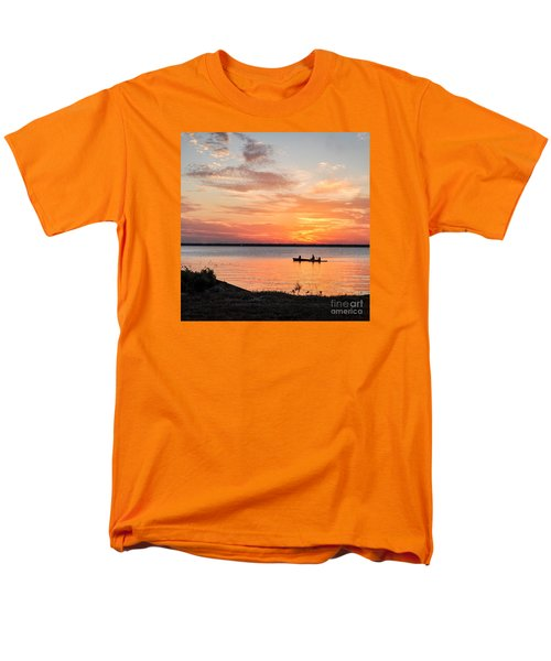 Boating Sunset Men's T-Shirt  (Regular Fit) by Cheryl McClure