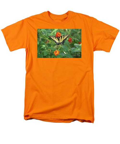 Butterfly And Flower Men's T-Shirt  (Regular Fit) by Debra Crank
