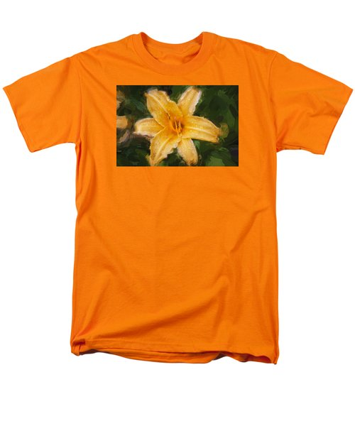 Daylily Hemerocallis Stella De Oro  Men's T-Shirt  (Regular Fit) by Rich Franco