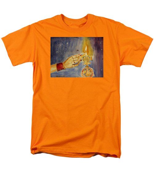 Happy Diwali Men's T-Shirt  (Regular Fit) by Geeta Biswas
