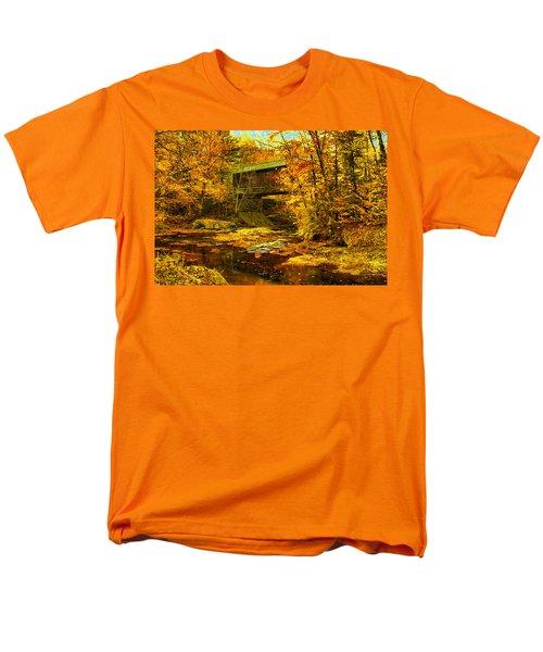 Men's T-Shirt  (Regular Fit) featuring the digital art Hutchins Bridge by John Selmer Sr