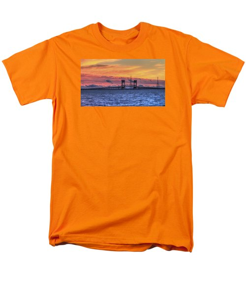 James River Bridge Men's T-Shirt  (Regular Fit) by Jerry Gammon
