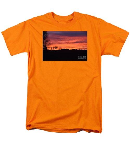 Men's T-Shirt  (Regular Fit) featuring the photograph Kansas Sunset by Mark McReynolds