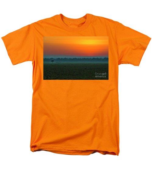 Men's T-Shirt  (Regular Fit) featuring the photograph Masai Mara Sunrise by Karen Lewis
