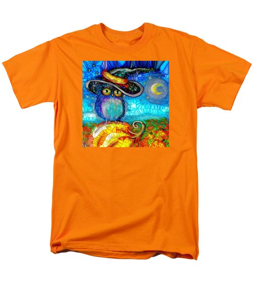 Men's T-Shirt  (Regular Fit) featuring the digital art Owl Scare You by Agata Lindquist