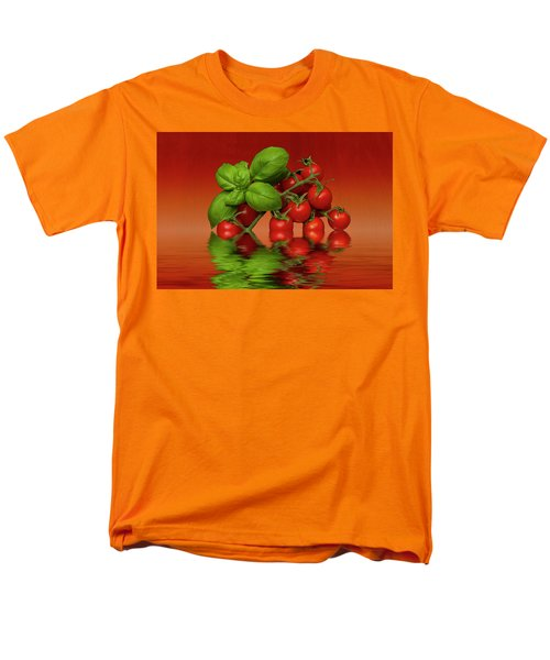 Men's T-Shirt  (Regular Fit) featuring the photograph Plum Cherry Tomatoes Basil by David French
