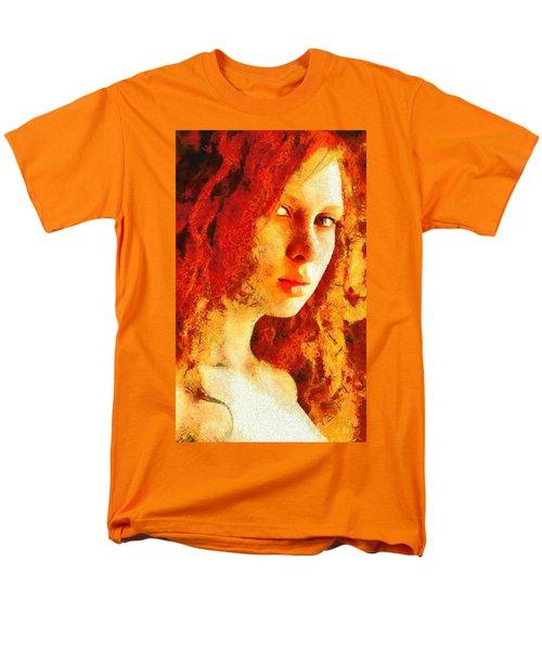 Men's T-Shirt  (Regular Fit) featuring the digital art Redhead by Gun Legler