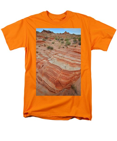 Men's T-Shirt  (Regular Fit) featuring the photograph Sandstone Stripes In Valley Of Fire by Ray Mathis
