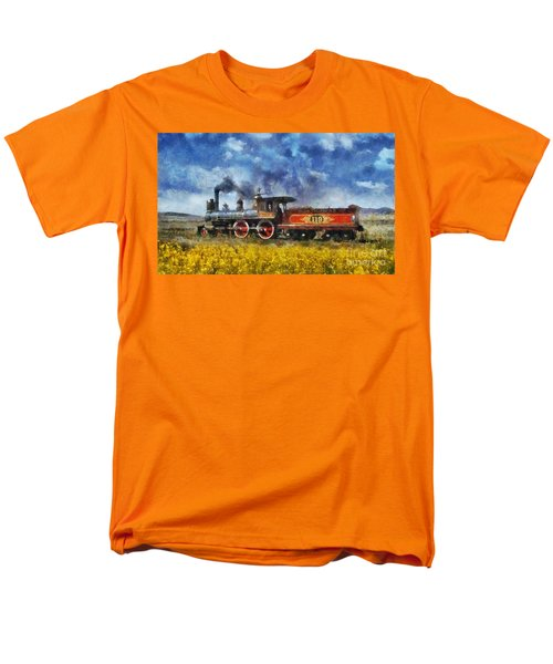 Steam Locomotive Men's T-Shirt  (Regular Fit) by Ian Mitchell