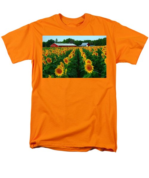 Sunflower Field #4 Men's T-Shirt  (Regular Fit) by Karen McKenzie McAdoo