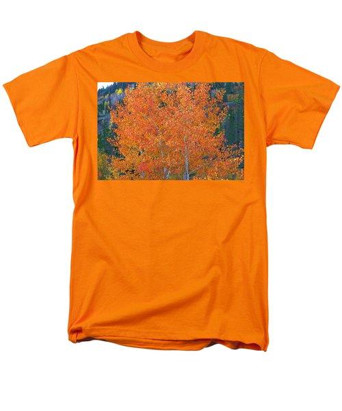 Men's T-Shirt  (Regular Fit) featuring the digital art Translucent Aspen Orange by Gary Baird