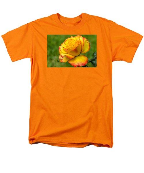 Two Toned Rose  Men's T-Shirt  (Regular Fit) by Martina Fagan
