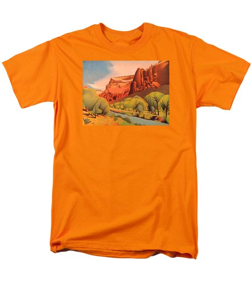 Zion Canyon Men's T-Shirt  (Regular Fit) by Dan Miller