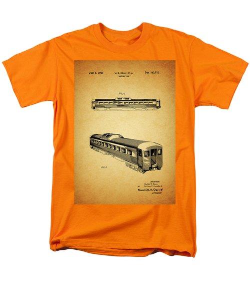 1951 Railway Car Patent Men's T-Shirt  (Regular Fit) by Dan Sproul