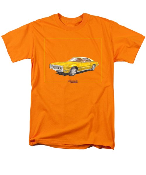 Men's T-Shirt  (Regular Fit) featuring the painting 1970 Olds Toronado Terific Tee Shirt by Jack Pumphrey