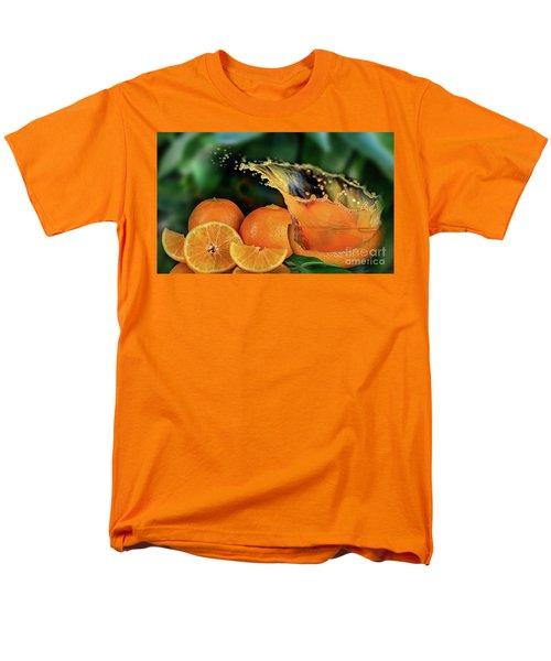Orange Splash Men's T-Shirt  (Regular Fit)