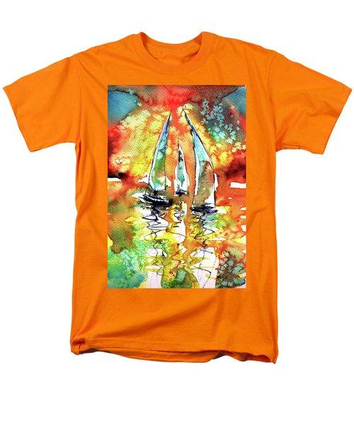 Sailboats Men's T-Shirt  (Regular Fit) by Kovacs Anna Brigitta