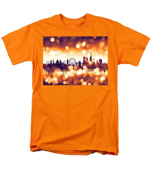 London England Skyline Men's T-Shirt  (Regular Fit) by Michael Tompsett