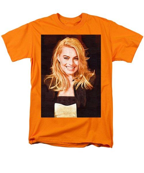Margot Robbie Painting Men's T-Shirt  (Regular Fit) by Best Actors