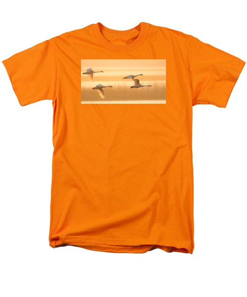 Men's T-Shirt  (Regular Fit) featuring the photograph 4 Swans by Kelly Marquardt