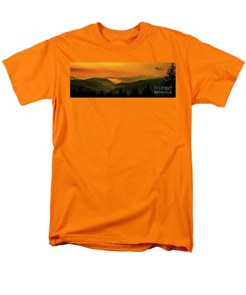 Men's T-Shirt  (Regular Fit) featuring the photograph Allegheny Mountain Sunrise by Thomas R Fletcher