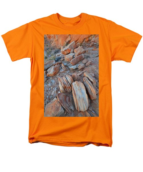 Men's T-Shirt  (Regular Fit) featuring the photograph Colorful Cove In Valley Of Fire by Ray Mathis