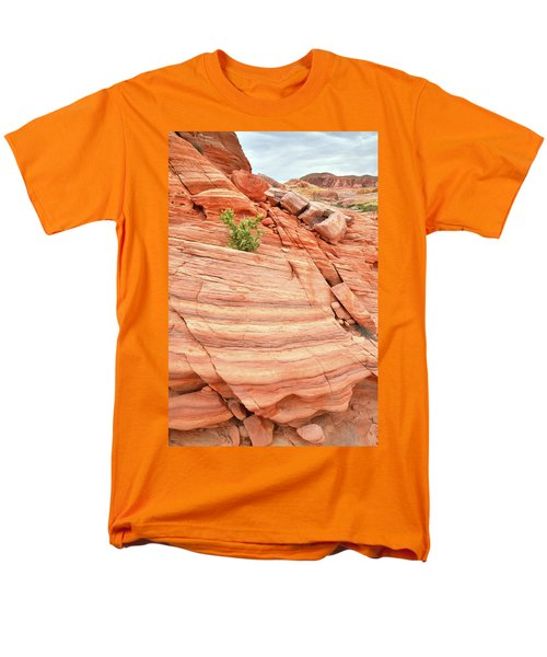 Men's T-Shirt  (Regular Fit) featuring the photograph Colorful Wash In Valley Of Fire by Ray Mathis