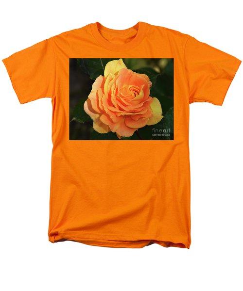 Men's T-Shirt  (Regular Fit) featuring the photograph Orange Rose by Elvira Ladocki